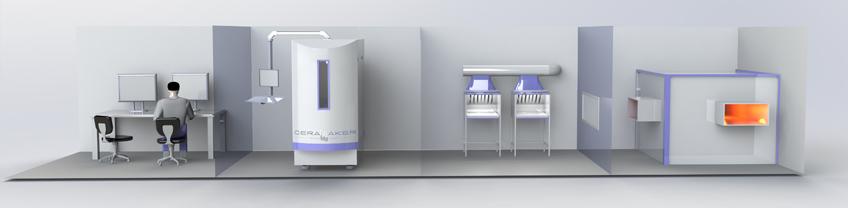 3DCeram Produktionslinie