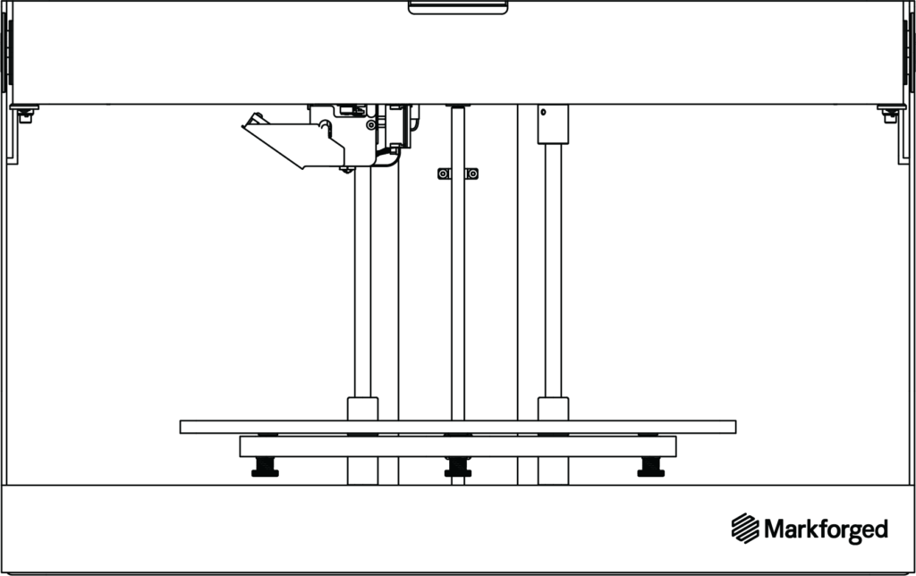 Markforged Onyx One 3D-Drucker Zeichnung