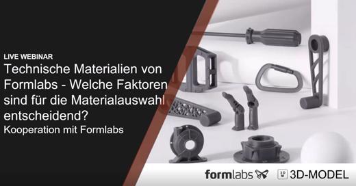 Formlabs Webinare Technische Materialien