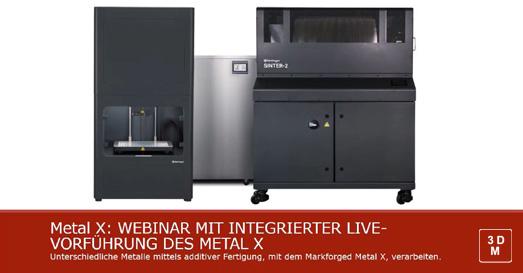 Markforged Webinare Metal X