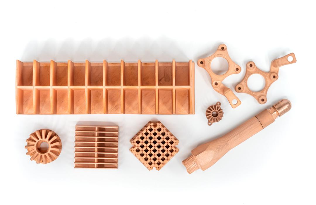 Kupfer Material von Markforged Bauteile